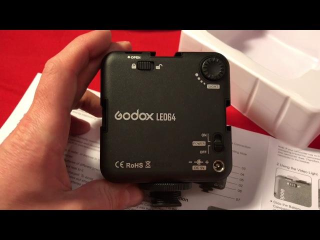 Накамерный фонарь Godox led 64 с AliExpress (распаковка и обзор)