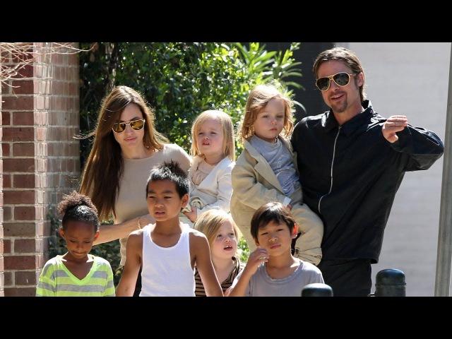 Анджелина Джоли, Брэд Питт и их дети...