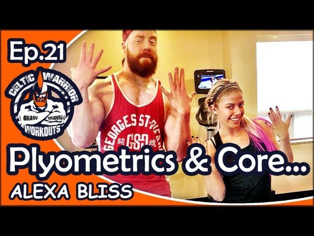 Ep.21 Alexa Bliss Plyometrics Core Workout...