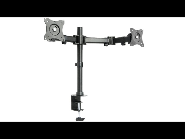 """VIVO STAND-V002M Dual Monitor Arms Fully Adjustable Desk Mount Stand /For 2 LCD Screens up to 27"""""""