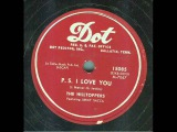 The Hilltoppers - P.S. I Love You (original 78 rpm)