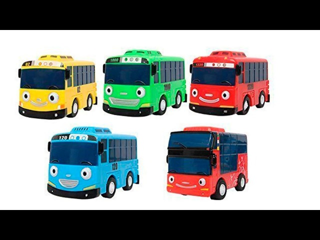 Tayo the little bus and friends with colorful slime