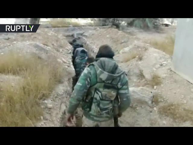 Siria, Harasta 01/01/18 combate a los insurgentes, en los suburbios de Damasco