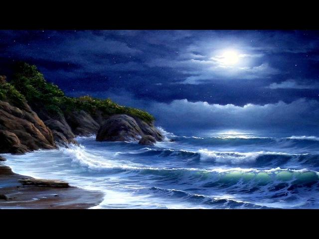 Лунная соната Бетховена и шум моря - Beethoven Moonlight Sonata and ocean