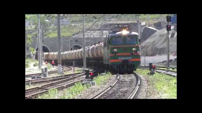 Электровоз ВЛ80С 2071 с грузовым поездом и с приветливой бригадой