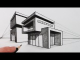 How to Draw a House in Two Point Perspective Modern House
