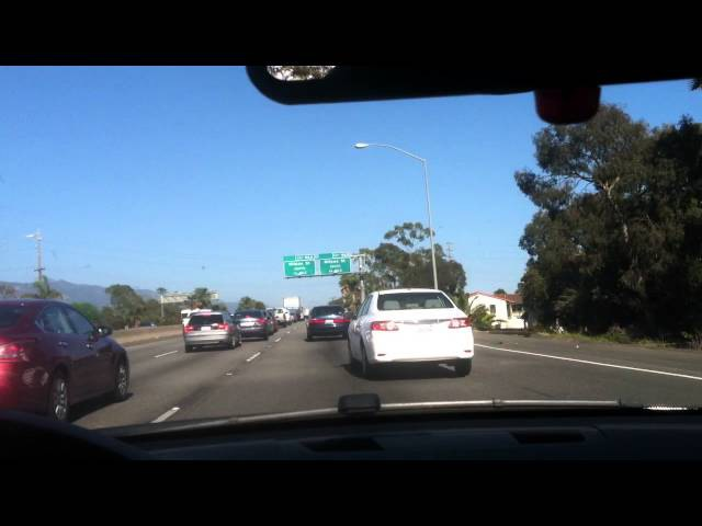 Stuck in traffic in Santa Barbara, made it a little fun