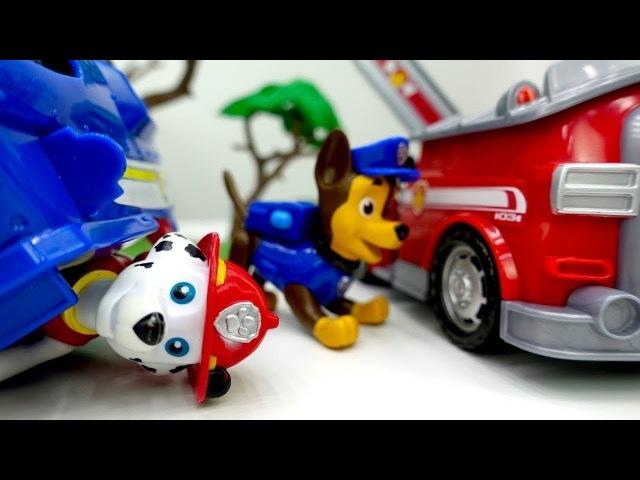 Spiel mit Paw Patrol Toys - Chase und Marshall tauschen die Rollen