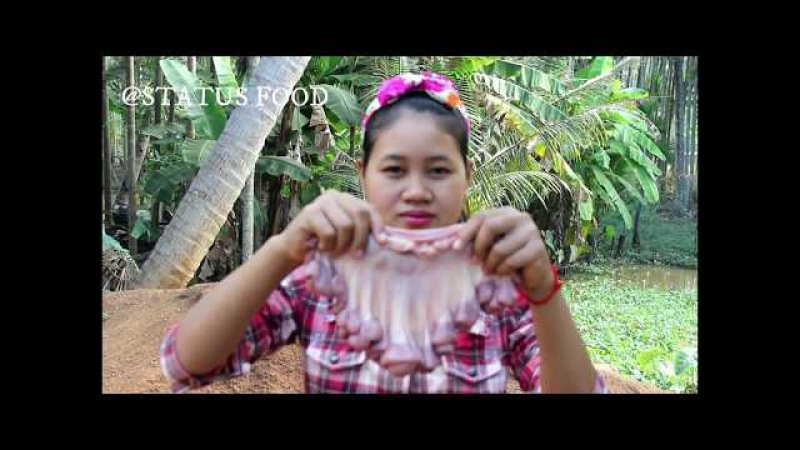 Awesome Cooking Fried Pig Intestines Delicious - Cook Pork Recipe - Village Food Factory