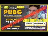 Twitch PUBG Winter Charity Invitational | 2ND GAME | SHROUDs POV | GETS THE CHICKEN DINNER!