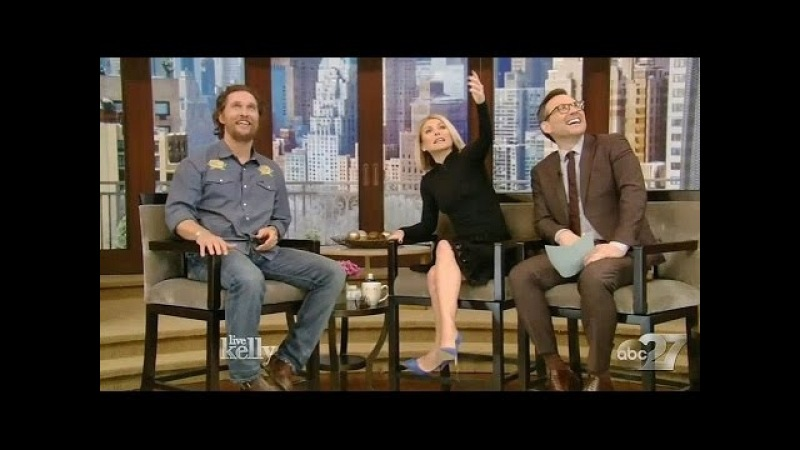 Live with Kelly (March 30, 2017) Matthew McConaughey, Idina Menzel, Rachel Bloom Christian Slater