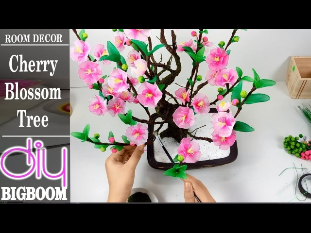 How To Make Cherry Blossom Tree To Room Decor Of New Year 2018 | Diy BigBoom