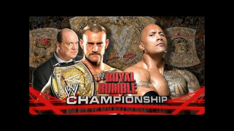 The Rock VS CM Punk - WWE Championship - Royal Rumble 2013 HD