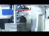 Twin head CNC milling machine operation videoDuplex milling machine OperationMilling machine