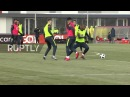 Russia Russian footballers help out Brazil in training session ahead of friendly match