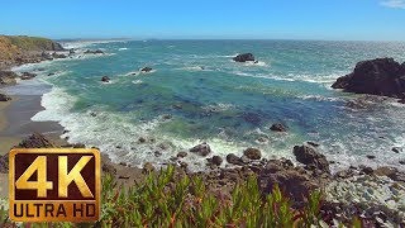 4K Ocean Waves Californian Coast Sonoma Сoast State Park California Episode 4