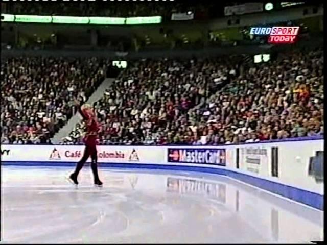 Evgeni Plushenko 2001 Worlds - SP Bolero KC- russian Eurosport