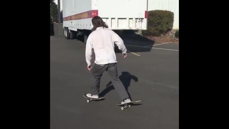Doubling Skateboard Trick