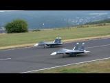 Great RC Jet model show with 2 X Sukhoi Su-30 Mk Elster Jet Team _ Jetpower Fair 2016