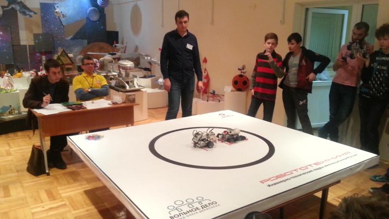 Финал Сумо 2-ого городского конкурса по робототехнике. Победа RoboLand - Аннигиляторы