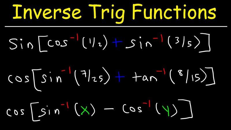 Simplifying Composite Inverse Trigonometric Functions With Sum and Difference identities Formulas