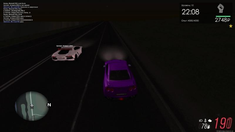 Night nelegal Nissan GT-R vs Lamborghini Aventador