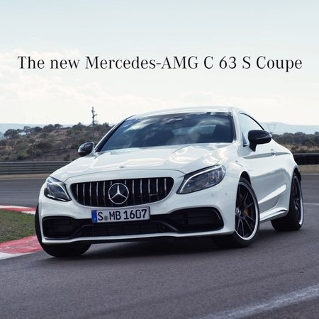 """Mercedes-Benz on Instagram """"Get to know all facts about the new Mercedes-AMG C 63 S Coupé. 🔥🌟💪 NYIAS NYIAS2018 NewYork NewYorkAutoShow Merced..."""