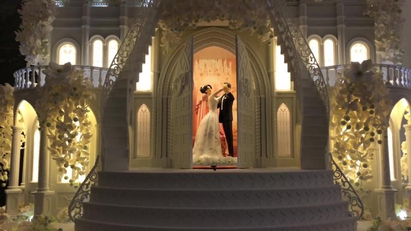 Торт Замок от Рената Агзамова. Выезд Жениха и Невесты из торта
