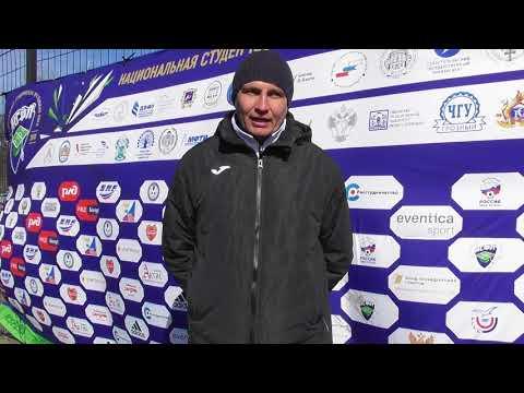 Тренер ПГАФКСиТ Марат Гиззатов после матча КГТУ - ПГАФКСиТ (2:0)