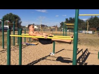 Training statics on the beach ☀️🤸🏻♂️☀️..