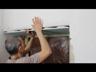 Монтаж откоса из гипсокартона на входных дверях