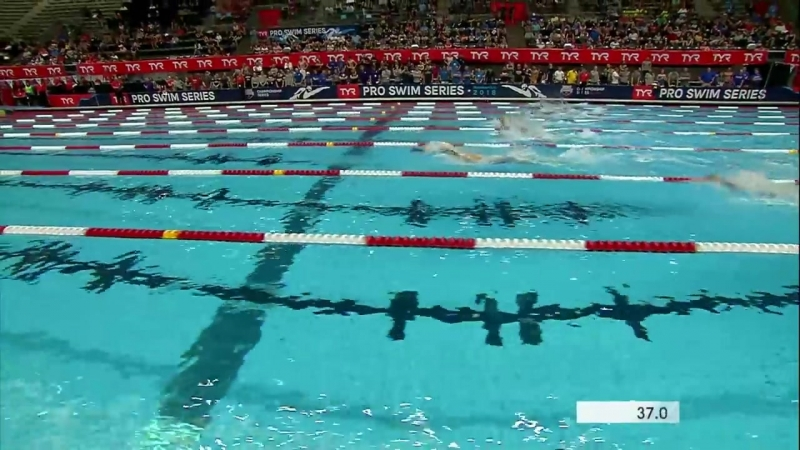 Men's 100m Back A Final _ 2018 TYR Pro Swim Series - Indy