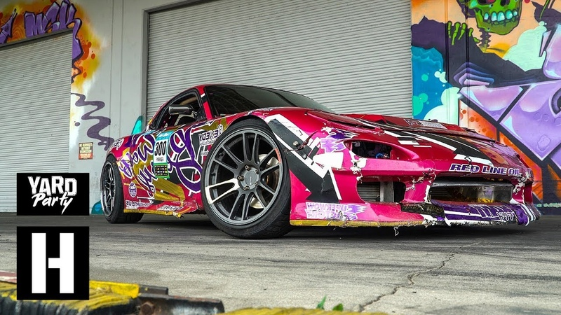 Mazda RX7 Gets Wrecked Dumpster Donuts of Destruction