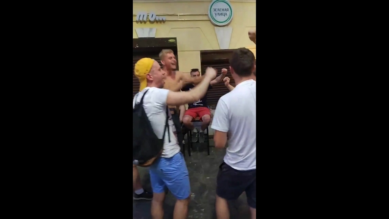 Английские болельщики поддержали московский Спартак в Нижнем Новгороде