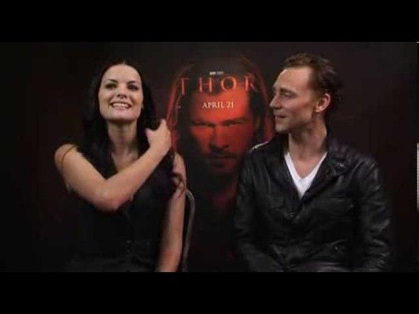 Jaimie Alexander And Tom Hiddleston Talk Thor