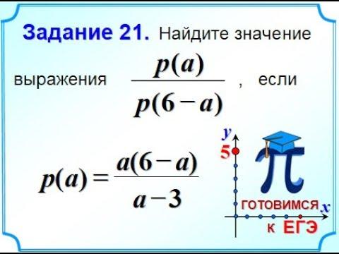 ОГЭ Задание 21 Алгебраические дроби