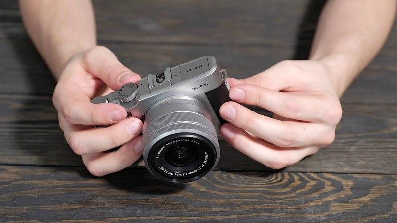 Распаковка Fujifilm X-A5 kit 16-50 unboxing unpacking Fujifilm XA5