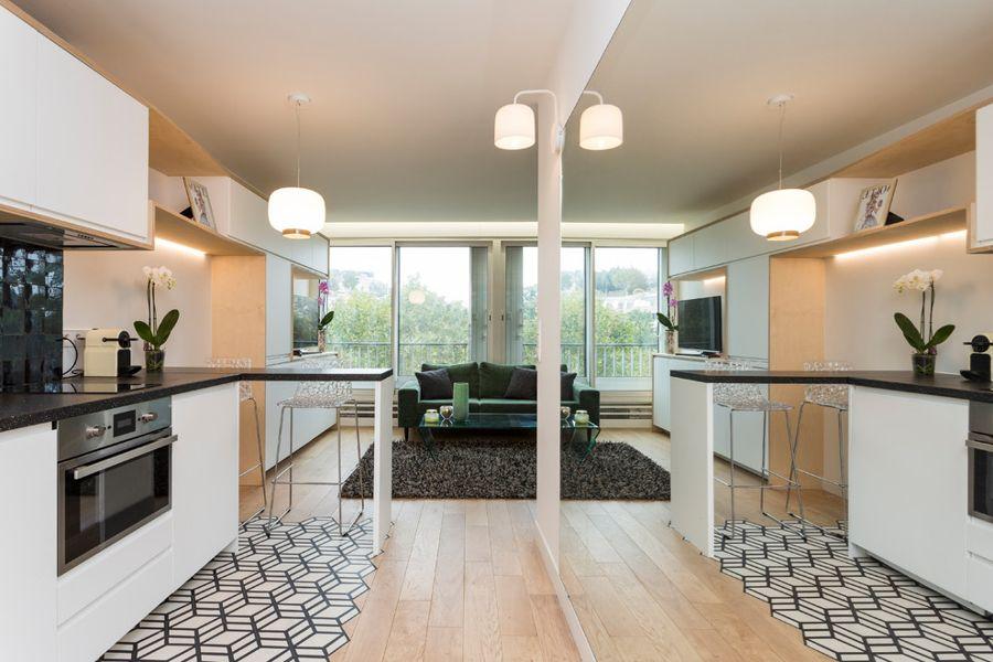 Интерьер квартиры-студии 36 м в Париже.