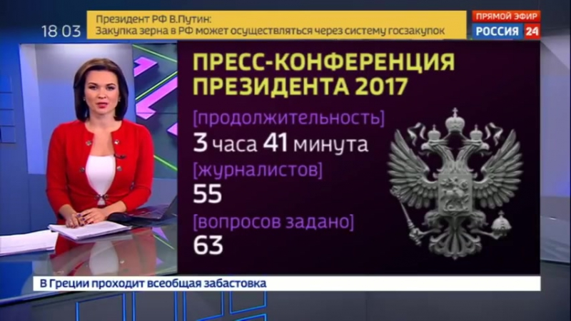 Большая пресс-конференция президента от выборов до Трампа, допинга и Арктики - Россия 24