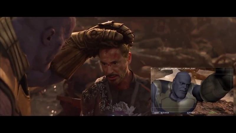 «Мстителей: Война бесконечности» (Фичуретка: Thanos vs Iron man, Dr Strange)