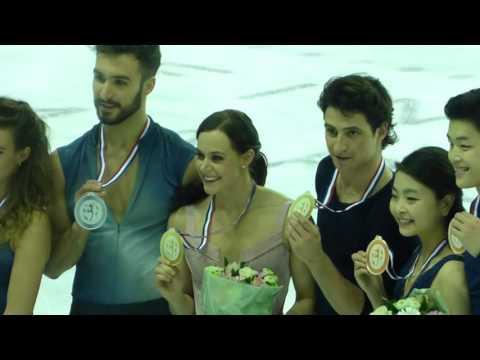 Tessa Virtue Scott Moir GPF 2016 Dance medal ceremony after medal ceremony