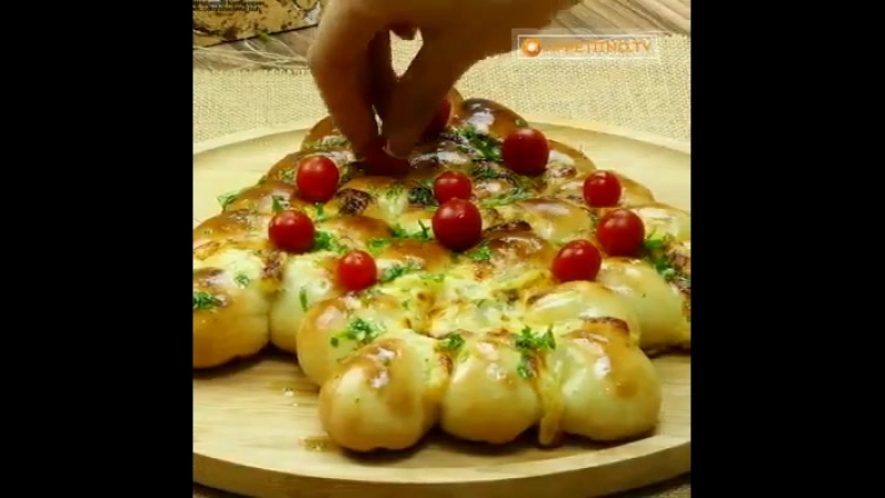 Пирог с сыром ёлка