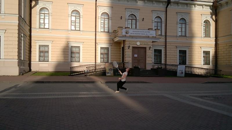 Бадминтон . Кремлевская площадь. осень 2017.