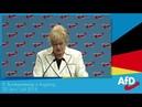 9 AfD Parteitag Erika Steinbach bekommt stehende Ovation nach ihrer Rede 30 06 2018
