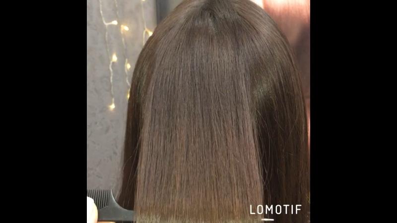 Шикарный результат после процедуры кератинового выпрямления и лечения волос в екатеринбурге