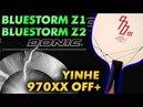 Short test DONIC Bluestorm Z1 Bluestorm Z2 on Off blade YINHE Milkyway 970XX