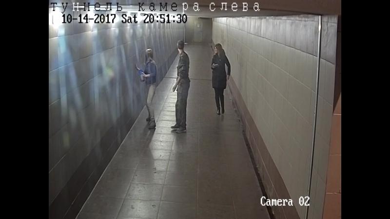 Вандалы в подземном переходе п. Зелный бор. Архангельск
