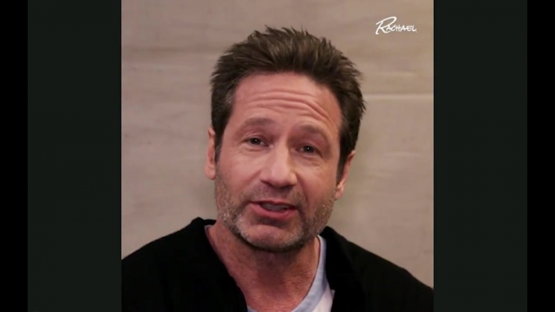 David Duchovny backstage trivia on Rachael Ray