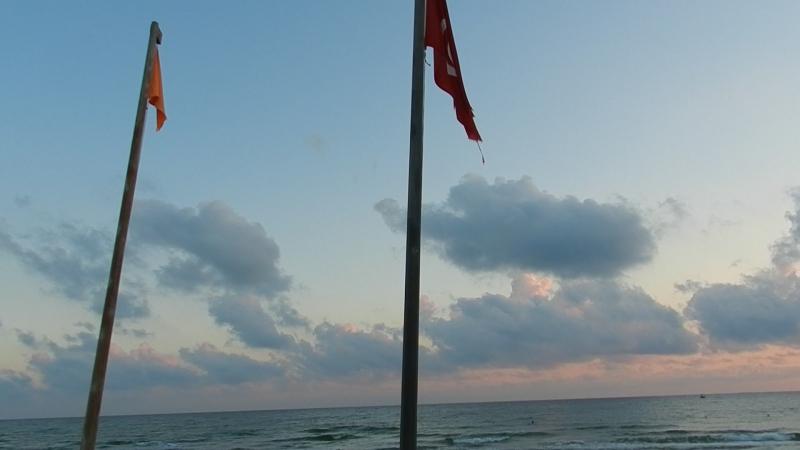 Утро на пляже.Октябрь 2017