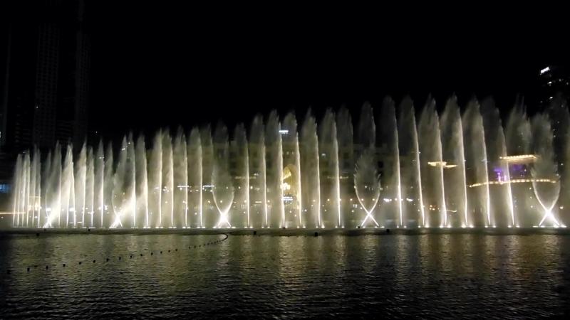 Поющие фонтаны в Dubai Mall